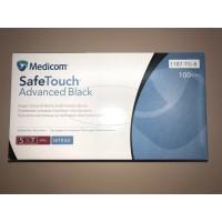 Перчатки нитриловые неопудренные, чёрные, L 100 шт, SafeTouch Medicom