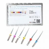 Файлы CICADA Niti files CV-Blue ассорти (10/20, 03/18, 04/20, 06/20, 06/25, 06/30), 25 мм, 6 шт./упак.