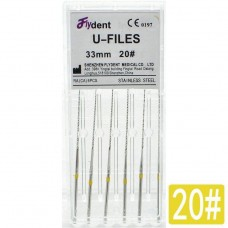 Профайлы FlyDent U-Files SS 33mm 20# 6шт.