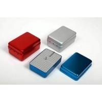 Стерилизатор (бокс, эндо-бокс) для боров и эндо-файлов (большой) Flaydent 120 отверстий, синий